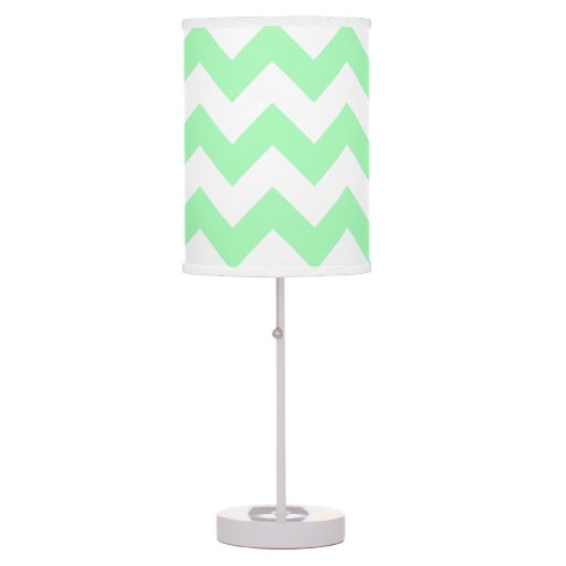 Create Your Own Big Mint Green Zigzag Pattern Table Lamp