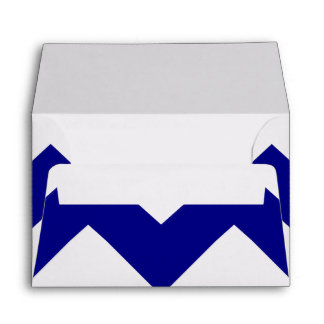 Create Your Own Big Navy Zigzag Pattern Envelope