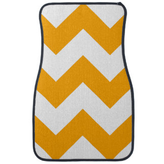 Create Your Own Big Orange Zigzag Pattern Car Floor Mat