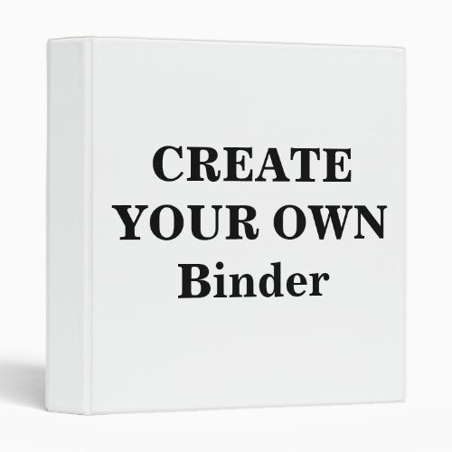 Create Your Own Binder