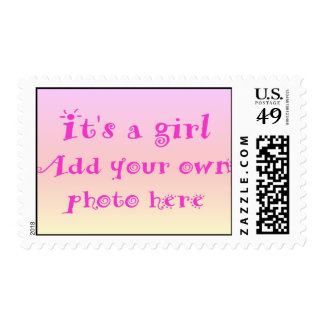 Create your Own Birth Announcement Photo Stamps