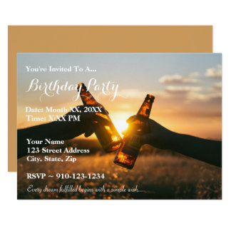 Create Your Own Birthday Beer Party Invitation