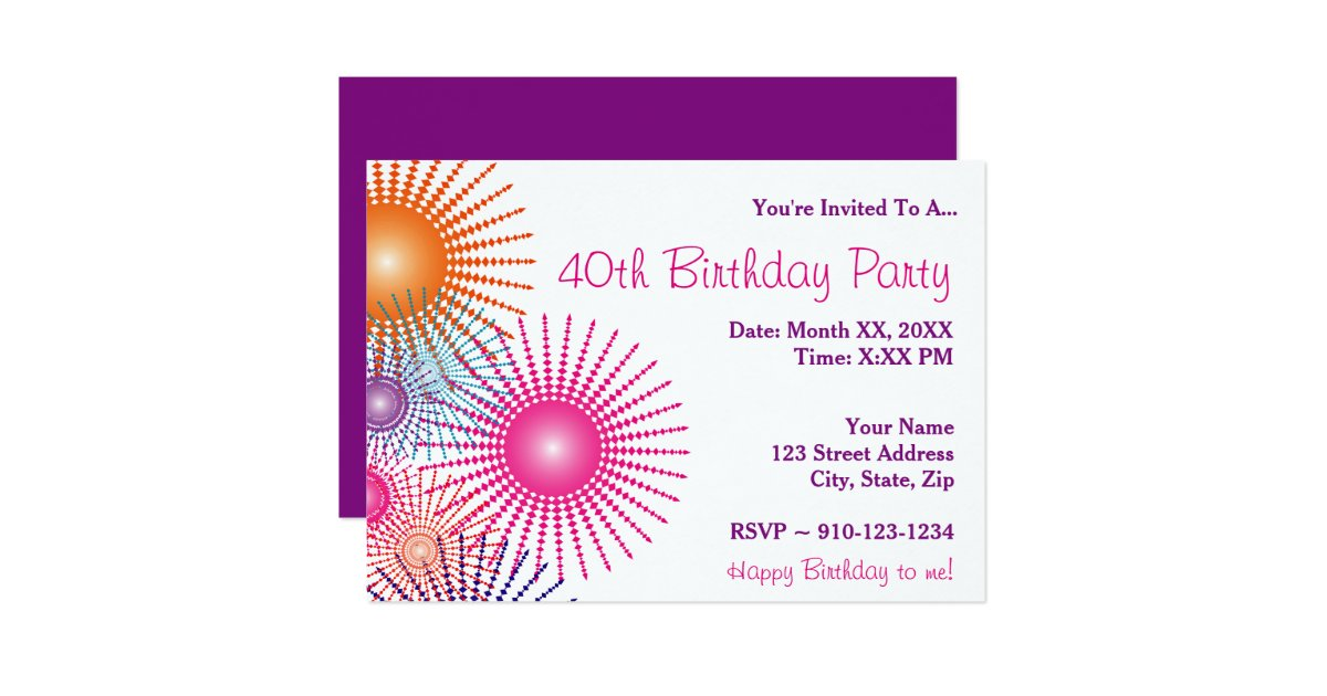 Create your own birthday party invitation zazzle for Create your own