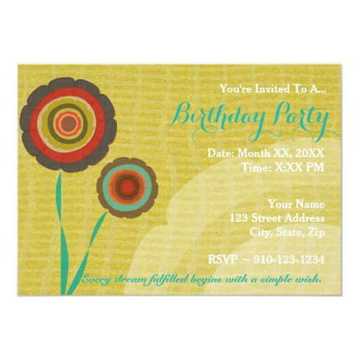 create your own birthday party invitation