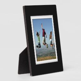 Create-Your-Own Black-Framed Photo Plaque