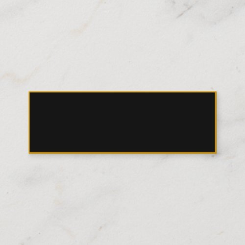CREATE YOUR OWN Black Gold Mini Business Card