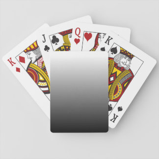Create Your Own Black Ombre Poker Cards