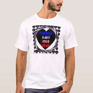 Create your own Blue Black Hakuna Matata Baby Kids T-Shirt
