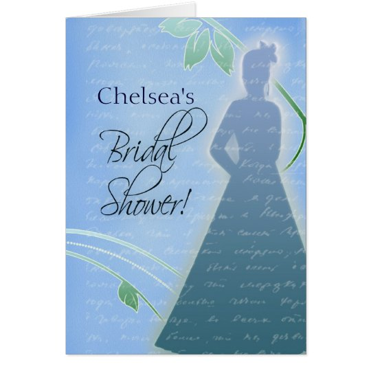 Create your own blue bridal shower invitations