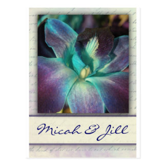 Create your own blue orchid design postcard