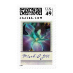 Create your own blue orchid design stamps