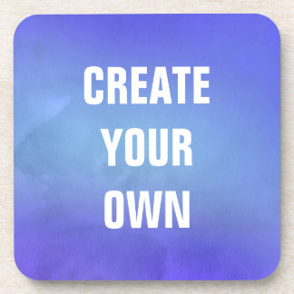 Create Your Own Blue Watercolor Painting Drink Coaster