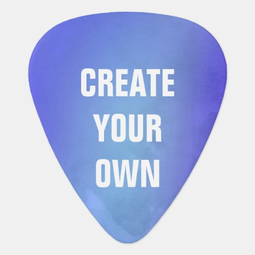 Create Your Own Blue Watercolor Painting Guitar Pick