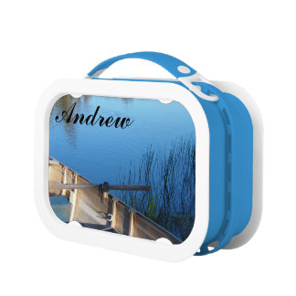 Create your own boat on the lake lunch box