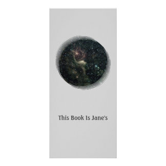 Create Your Own Bookmark With Background of Stars Personalized Rack Card