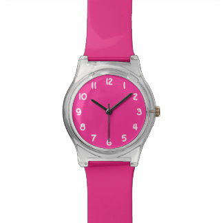 Create Your Own Bright Pink Wrist Watch