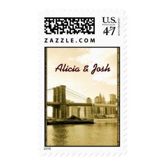 Create your own Brooklyn Bridge custom postage