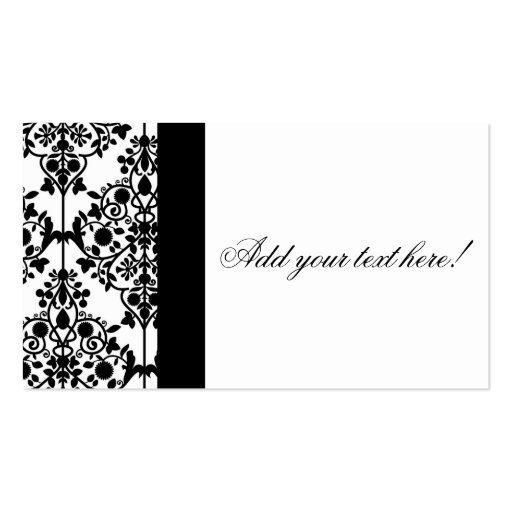 Create Your Own Business Card Damask Pattern