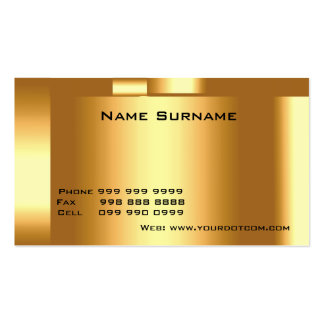 Create Your Own Business Card Gold