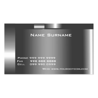 Create Your Own Business Card Silver