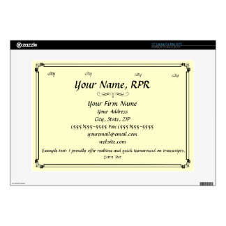 Create Your Own Business Card Decals For Laptops