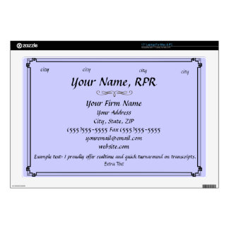 Create Your Own Business Card Skin Laptop Decal
