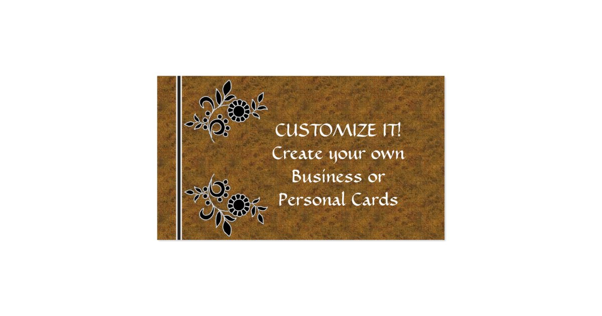 Create Your Own Business Cards Zazzle