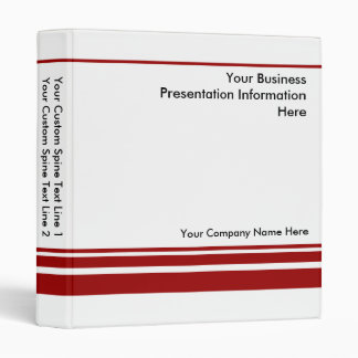 Create Your own Business Presentation Binder