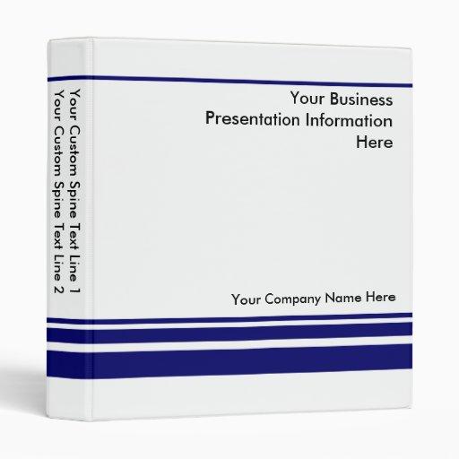 Create Your own Business Presentation Binder -Blue Vinyl Binder