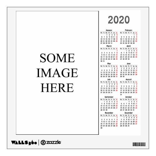 Create your own calendar wall decal