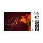 Create your own Calla Lilly postage - Letter B