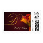 Create your own Calla Lilly postage - Letter D
