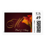 Create your own Calla Lilly postage - Letter M