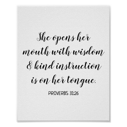 Create Your Own Calligraphy Bible Verse Text Poster