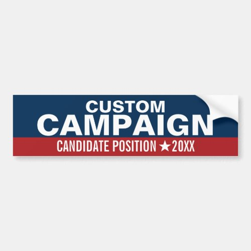 Create Your Own Campaign Gear Bumper Sticker