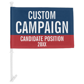 Create Your Own Campaign Gear Car Flag