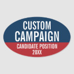 Create Your Own Campaign Gear Oval Sticker