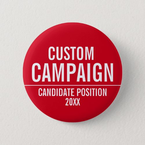 Create Your Own Campaign Gear _ Red and White Button