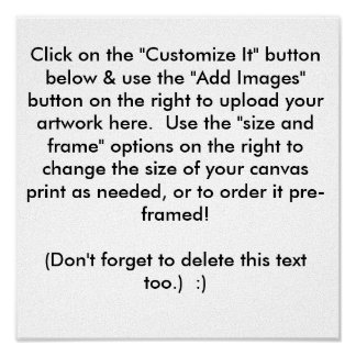 Create Your Own Canvas Art Print