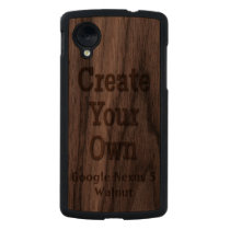 Create Your Own Carved Google Nexus 5 Carved® Walnut Nexus 5 Slim Case at Zazzle