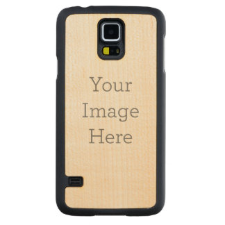 Create Your Own Carved Maple Galaxy S5 Slim Case