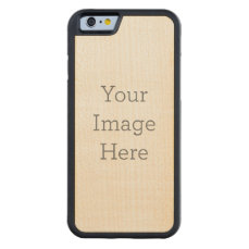 Create Your Own Carved Maple iPhone 6 Bumper Case