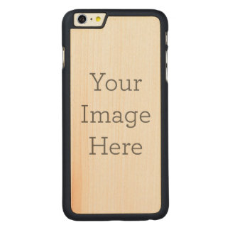 Create Your Own Carved Maple iPhone 6 Plus Slim Case