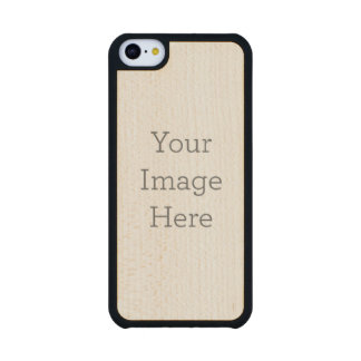 Create Your Own Carved® Maple iPhone 5C Case