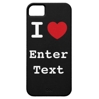 Create Your Own Case - I Love - Black Background