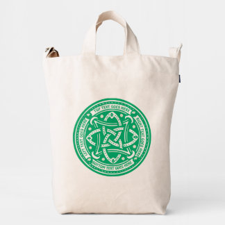 Create Your Own Celtic Knot Shamrock Green Irish Duck Bag