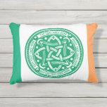 Create Your Own Celtic Knot Shamrock Green Irish Outdoor Pillow