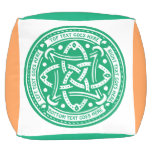 Create Your Own Celtic Knot Shamrock Green Irish Outdoor Pouf