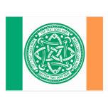 Create Your Own Celtic Knot Shamrock Green Irish Postcard