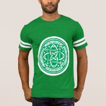 Create Your Own Celtic Knot Shamrock Green Irish T-Shirt